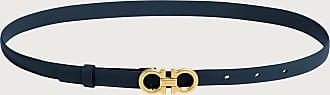 Salvatore Ferragamo Women Sized Gancini belt Mezcal Teal