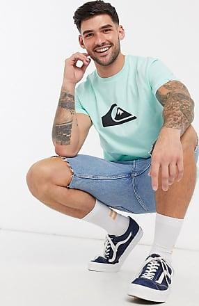 Quiksilver Comp Gloss - T-shirt con logo azzurra-Blu