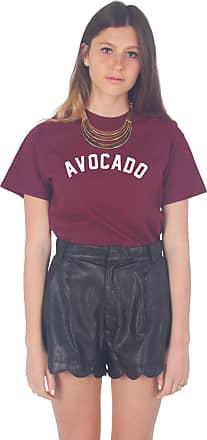 Sanfran Clothing Sanfran - Avocado Vegan Vegetarian Summer T-Shirt - Medium/Maroon