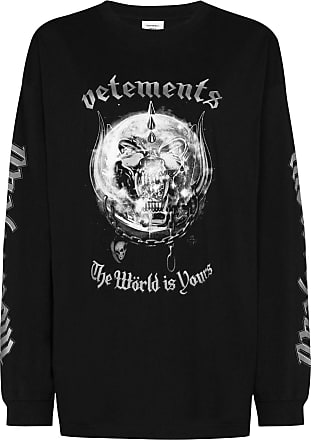 VETEMENTS Camiseta X Motörhead com mangas longas - Preto