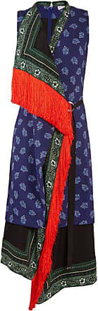 Altuzarra Bina Sleeveless Scarf-print Stretch-cady Dress - Womens - Blue Multi