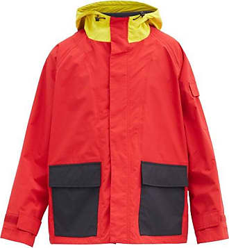 J.W.Anderson Colour-block Shell Parka - Mens - Red