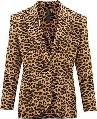 Norma Kamali Leopard-print Single-breasted Blazer - Womens - Leopard