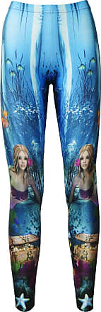 Insanity Mermaid and Creatures of The Sea Underwater Printed Leggings (XL)