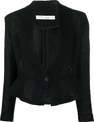 Iro crochet fitted peplum jacket - Black