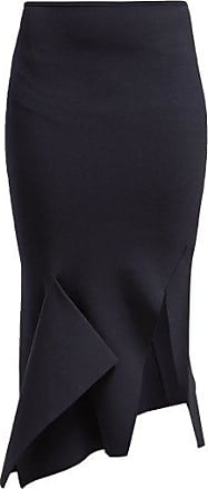 Roland Mouret Lucca Stretch Knit Mermaid Midi Skirt - Womens - Navy
