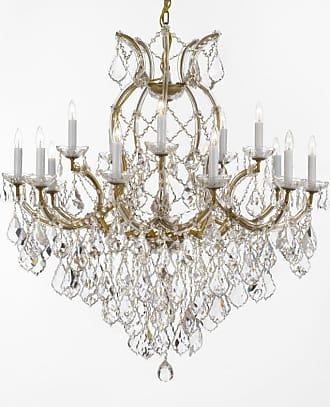 Gallery T40-623 Maria Theresa 38 Tall 16 Light 2 Tier Chandelier Gold