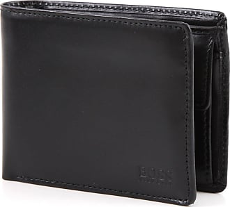 BOSS Leather wallet with coin pocket