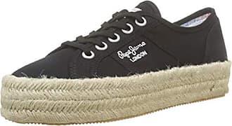 Pepe Jeans London Damen SINYU Colors Fresh Sneaker, Schwarz (999black 999), 39 EU