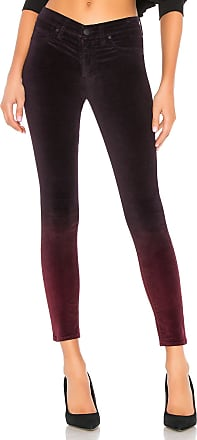 Hudson Nico Velvet Mid Rise Ankle Super Skinny in Purple