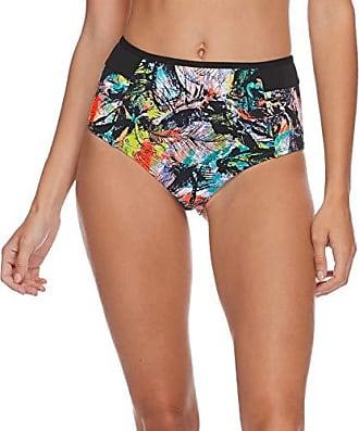 f5f715f4dd Eidon Eidon Juniors Hailey High Rise Bikini Bottom Swimsuit, Saharan Sunset  Black Print, Large