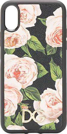 Dolce & Gabbana Capa para iPhone X floral - Preto