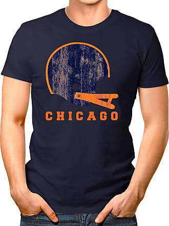 OM3 Chicago-Helmet - T-Shirt | Mens | American Football Shirt | 4XL, Navy