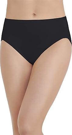 Vanity Fair Womens Body Caress Hi Cut Panty 13137 Briefs, Midnight Black, X-Large / 8