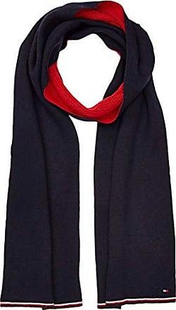 d5065637e47f0 Tommy Hilfiger Double Sided Knit, Echarpe Homme, Bleu Navy Tommy Red 901,