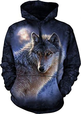 The Mountain Adventure Wolf Hoodie, Large, Blue