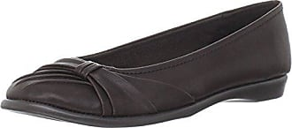Easy Street Womens Giddy Ballet Flat,Brown,6 WW US
