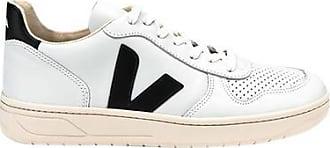Veja V 10 Leather Extra White Black Womens Shoes - UK 6