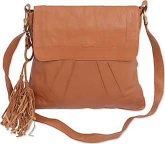 Novica Leather sling, Burnt Orange Attraction