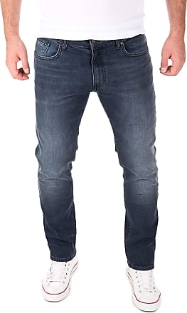Yazubi Mens Jeans for Man Jean Men Straight Pants Akon Trousers Slim Fit Leg Casual Used Skinny, Blue (Outer Space 194009), W30/L30