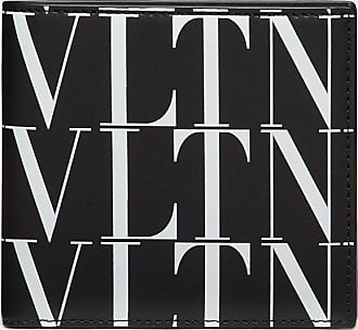 Valentino Garavani Valentino Garavani Uomo Portafoglio Vltn Times Uomo Nero/bianco 100% Pelle Bovina - Bos Taurus OneSize