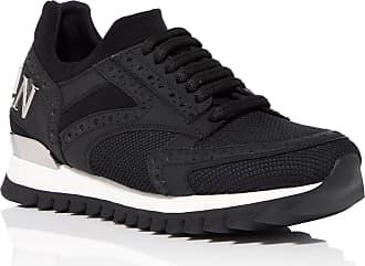 Philipp Plein Desy Leather and mesh Sneakers, 37 Black