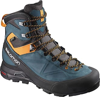 d7d232e45db3 Salomon Mens X Alp MTN GTX High Rise Hiking Boots Black (Phantom Reflecting  Pond