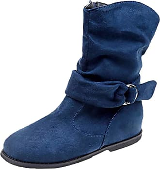 Blue Leather Boots: Shop up to −55