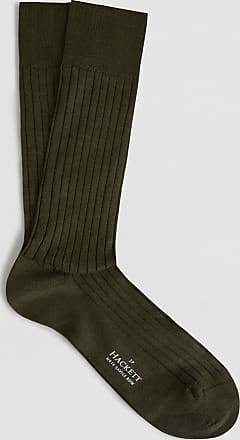 No.14 Savile Row Ribbed Cotton-Rich Socks | Medium/Large | Green