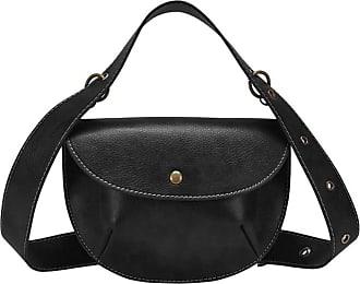 NA Fashion Leather Belt Bag Women Phone Pouch Fanny Pack Luxury PU Leather Female Waist Pack Heuptas Pochete,Black-Black