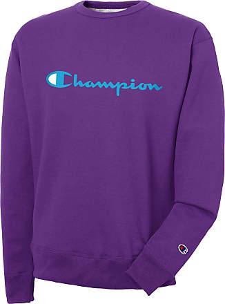 Champion Mens Powerblend Graphic Crew Sweatshirt, Purple Crush, 2X Large