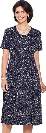Chums Ladies Womens Spot Print Dress Length 46 Inches Navy 24