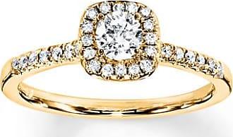 Kay Jewelers Diamond Engagement Ring 3/8 ct tw Round-cut 10K Yellow Gold