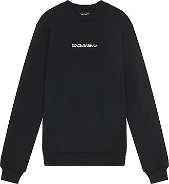 2279fe5927a3 Dolce   Gabbana Black crew-neck sweatshirt with logo