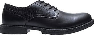 Wolverine Mens Bedford Steel-Toe Oxford SR Industrial Shoe, Black, 8 Extra Wide US