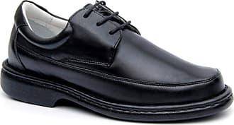 Generico Sapato social masculino de amarrar, semi- ortopédico em legitimo couro mestiço(pelica), solado de borracha, forrado com napa de couro, palmilha espuma