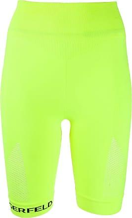 Karl Lagerfeld seamless biker shorts - Amarelo