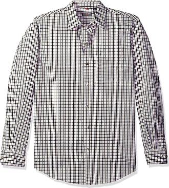 Van Heusen Mens Traveler Stretch Non Iron Long Sleeve Shirt Button, Khaki, Medium