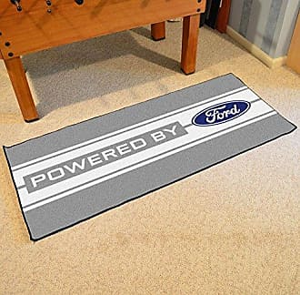 Fanmats NASCAR Ford Oval with Stripes Runner, 30 x 72/Small, Gray