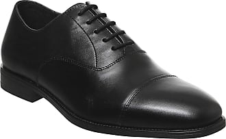 Office Memo Oxford Toe Cap Black Leather - 9 UK