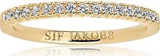 Sif Jakobs Jewellery Ring Ellera - 18K vergoldet mit weißen Zirkonia