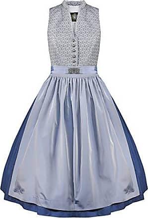 0c21ea08de00b4 Hammerschmid Damen Trachten-Mode Midi Dirndl Tegernsee in Blau traditionell,  Größe:34,
