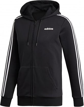adidas Essentials 3Stripes FullZip Fleece Felpa Uomo | grigio