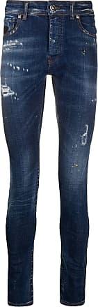 John Richmond Calça jeans skinny com efeito destroyed - Azul