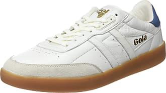 Gola Mens INCA Leather Trainers, Off-White (Off White/Baltic/Gum Powder), 12 UK 46 EU