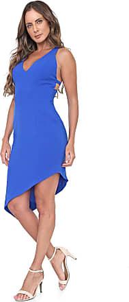 Morena Rosa Vestido Morena Rosa Midi Assimétrico Azul