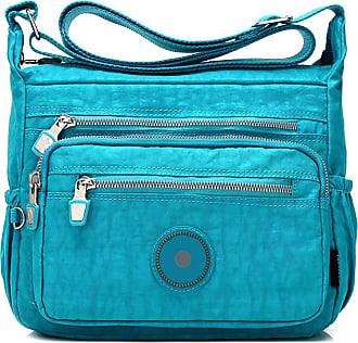 GFM Womens Nylon Cross Body Shoulder Bag (88)(S2-1218-TXNL)