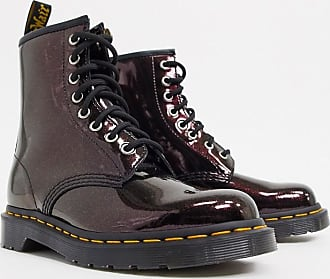 Dr. Martens 1460 - Lederstiefel in Royal-Metallic-Optik-Rot