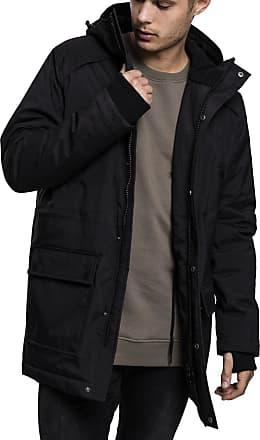 Urban Classics Mens Hooded Heavy Thumbhole Parka, Black (Black 7), XXL