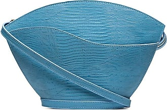 USISI SISTER Bolsa transversal com estampa de lagarto - Azul